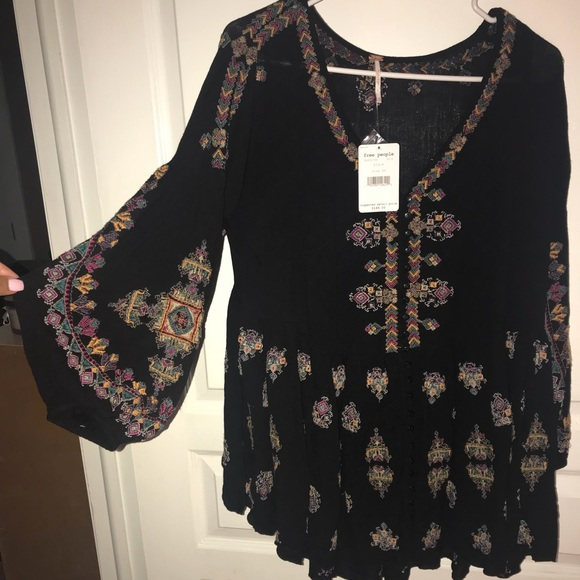 996152a08c2 Free People Dresses | Arianna Embroidered Balloon Dresstop | Poshmark
